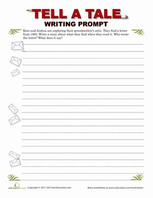printable writing paper for middle school creative writing mystery letter worksheet education com