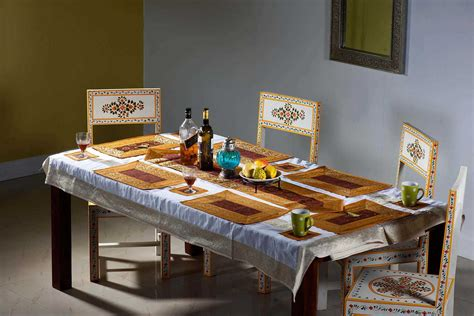 Dining Table Mats 12 Pcs Set Buy Indian Table Runners Dining Table Runners