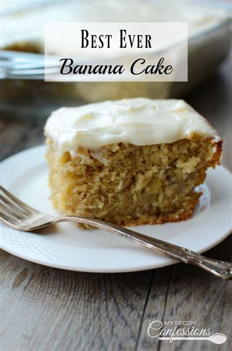 Best Ever Banana Cake   Recipes to Cook   Pinterest   Cake