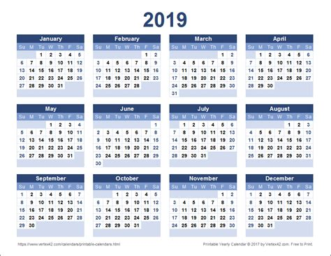Show Me My Calendar 2019 Calendar Templates And Images