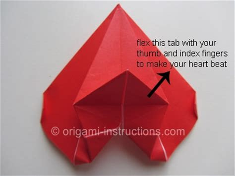 How To Make A Origami Beating - origami beating folding