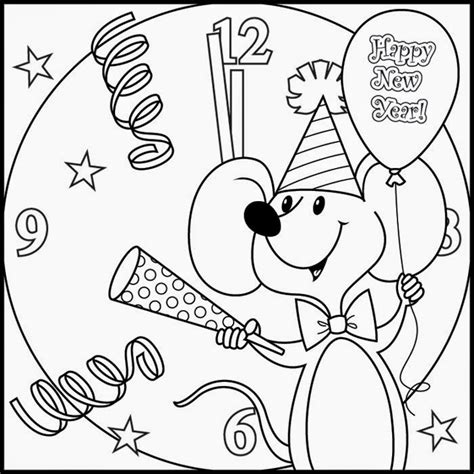 coloring pages happy new year the holiday site happy new year s coloring pages