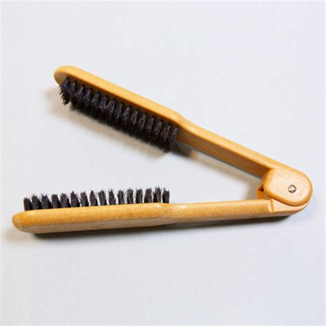 beautystar flat ironing brush professional flat iron hair brush with bristle pin hair