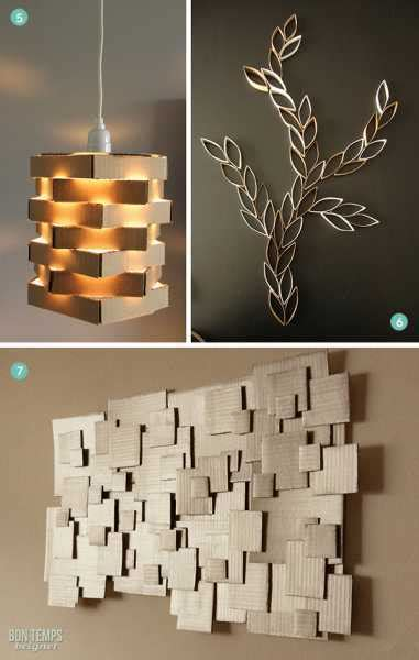 diy decorations cardboard craft news and events home and garden