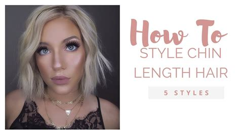 ways to style chin length thin hair how to style a chin length bob youtube