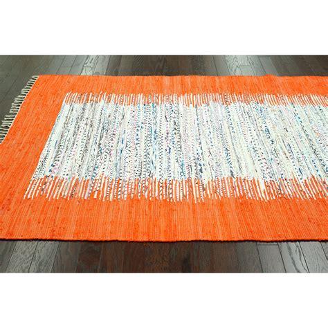 orange rag rug nuloom munegu orange talia rag area rug reviews wayfair
