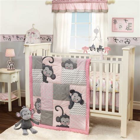 baby bedding sets and ideas girls monkey crib bedding