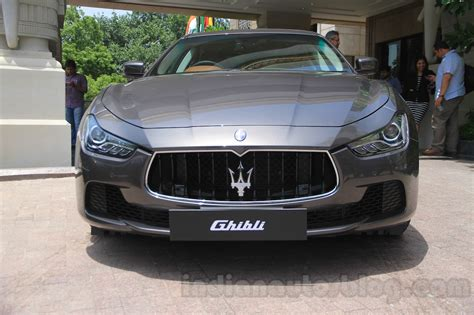 maserati delhi maserati ghibli front india reveal indian autos blog