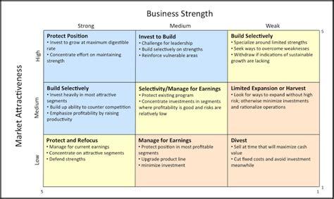 Strategic Product Management Product Strategy Tools Ge Mckinsey Portfolio Matrix Uwm Portfolio Strategic Plan Template