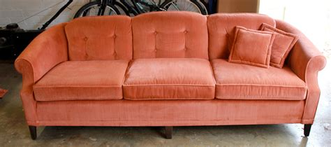 etsy couch reserved for ap 1970s vintage ethan allen velvet sofa couch