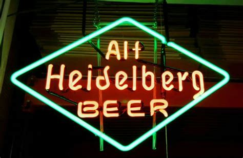 what were beer neon colors in the 50s and 60s heidelberg neon window sign from the 1950 s history and advertising neon