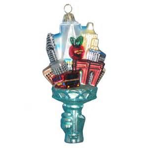 glass new york city ornament christmas and city