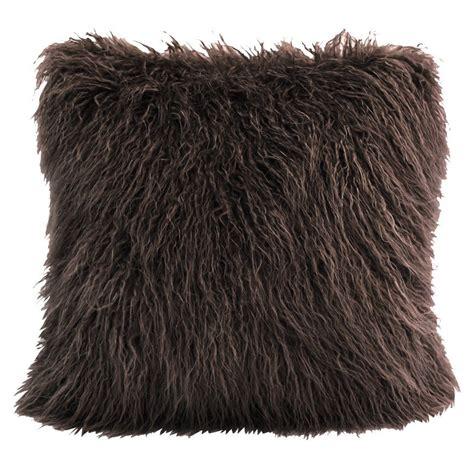 Mongolian Chocolate Faux Fur Pillow