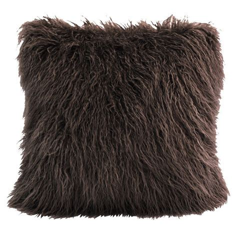 Mongolian Chocolate Faux Fur Pillow