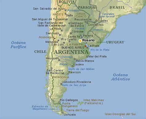 imagenes satelitales rosario argentina rosario mapas planos rotas e ruas paises limitrofes argentina