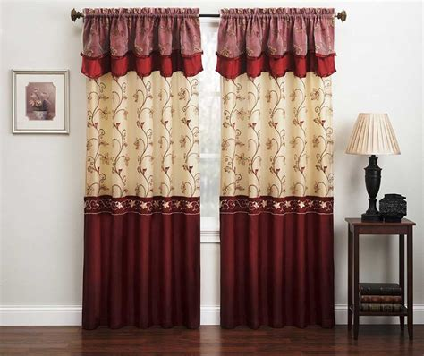 burgundy curtains  living room roy home design
