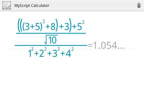 myscript calculator apk myscript calculator android app