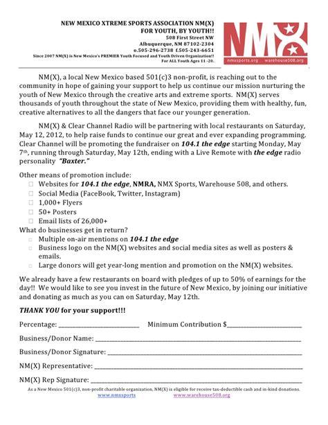 Fundraising Letter To Restaurants Restaurant Fundraiser Letter 4 27 2012