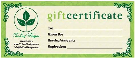 gift certificate template business free voucher
