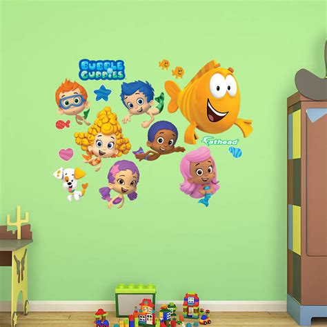 bubble guppies bedroom decor bubble guppies collection wall decal shop fathead 174 for