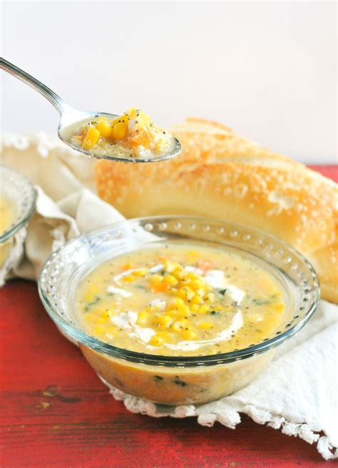 Dinner In 15 Corn And Crab Soup by Quinoa Crab Corn Chowder Nosh And Nourish