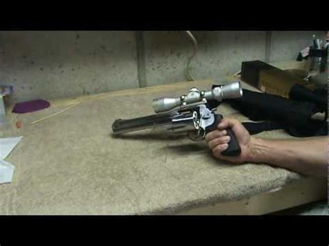 s&w 460xvr with scope.mpg youtube