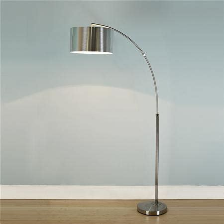 Arc Floor Lamp Shade nickel arc floor lamp with silver drum shade shades of