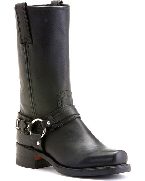 mens harness boot frye s belted harness 12r boot square toe 87250 cht
