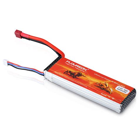 rc boat long battery life 2x 7 4v 4000mah 2s1p 30c deans t connector lipo rc battery