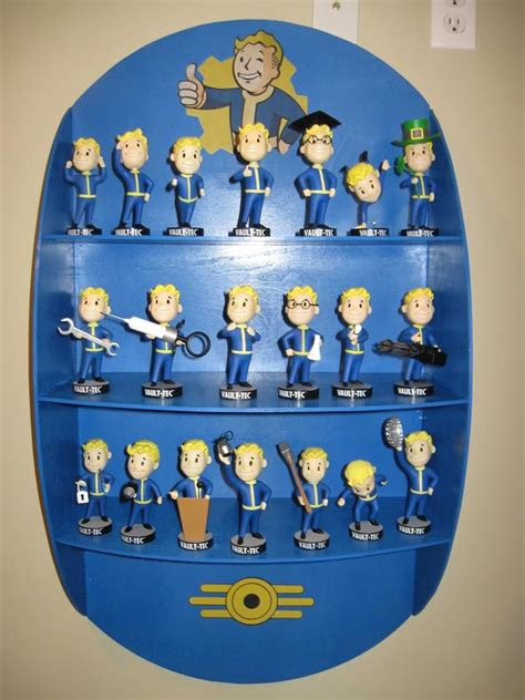 fallout 7 bobblehead diy fallout 4 shelf with vault 101 vault 111 bobbleheads
