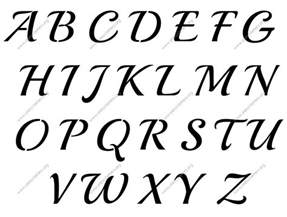 lettering template vintage calligraphy a to z uppercase letter stencils