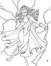 storm superhero coloring pages download and print for free