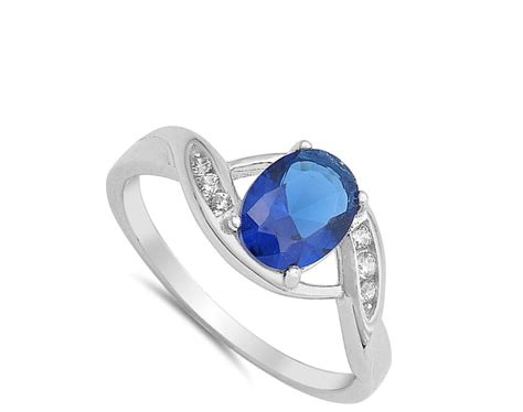 925 Sterling Silver Ring oval ring new 925 sterling silver band ebay