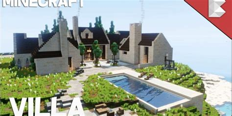 Modern Houses Minecraft Cliff Side Modern Villa House With Pool Minecraft