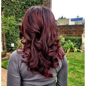 cut curl hair with cherry red colour chocolate cherry hair color google search hair