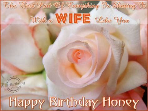 Happy Birthday Honey Wishes Birthday Wishes For Wife Birthday Images Pictures