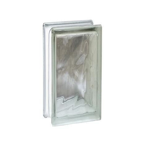 glass block 8 in x 4 in x 16 in concrete block 401000100 the home