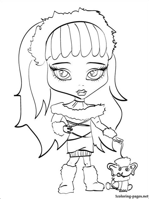 abbey bominable monster high coloring pages