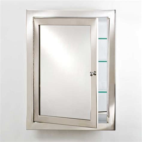 afina metro 20 quot mirrored medicine cabinet polished