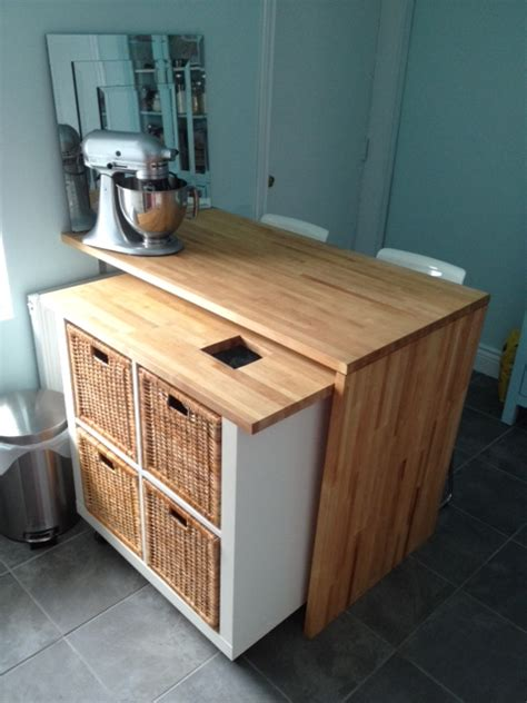 ikea hackers kitchen island 10 ingenious ikea hacks for the kitchen remodelaholic