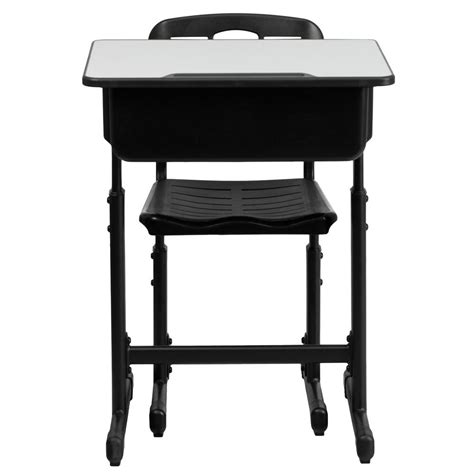 adjustable height desk and chair with black pedestal frame adjustable height desk and chair with black