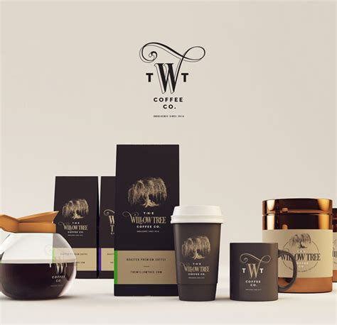 coffee shop branding design the willow tree coffee co branding by isabela rodrigues