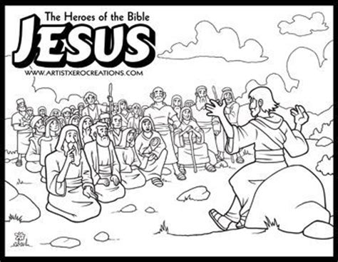 coloring pages of jesus sermon on the mount the heroes of the bible coloring pages jesus sermon o