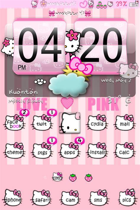 Theme Hello Kitty Cho Iphone 5 Tren Cydia | những bộ theme cho iphone cute ph 249 hợp mọi lứa tuổi