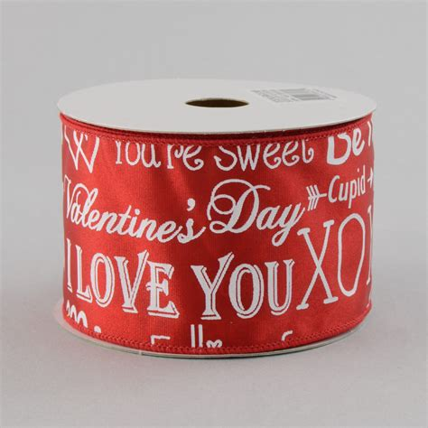 valentines day ribbon 2 5 quot happy s day ribbon white rg1183