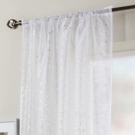 sparkly curtains white sparkle voile panel dunelm