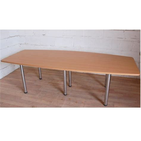 Beech Boardroom Table Boardroom Meeting Table 240x100cm Beech Chrome 15021