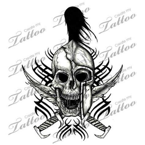 killing tattoo jakarta marketplace tattoo tribal spartan skull 3183