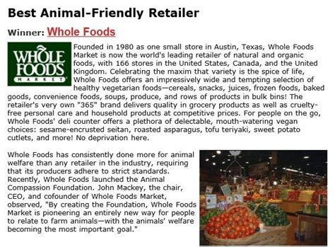 whole foods cover letter animal welfare regulation quot happy exploitation quot and
