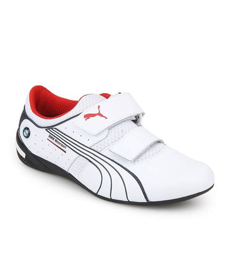 bmw ms nyter 2 velcro white shoes price in india buy